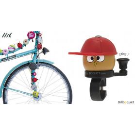 Sonnette de vélo rouge Yo Man - Liix Funny Bell