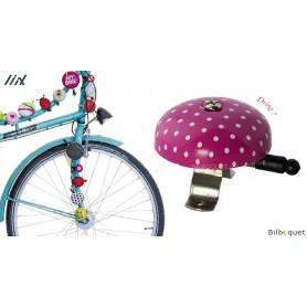Sonnette de vélo Rose à pois blancs - Liix Funny Bell