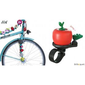 Sonnette de vélo Pomme rouge - Liix Funny Bell