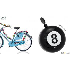 Sonnette de vélo Noire Boule n°8 - Liix Mini Ding Dong Bell
