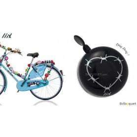 Sonnette de vélo Noire Love Hurts - Liix Mini Ding Dong Bell