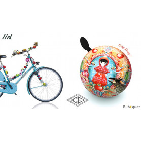 Sonnette de vélo Fillette Rouge Catalina Estrada - Liix Ding Dong Bell Ø80mm