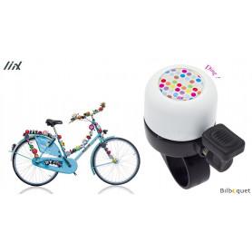 Sonnette de vélo Blanche Polka Dots - Liix Micro Bell Ø35mm
