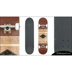 Skateboard Globe Diablo - Oxblood/Anti-Brass
