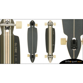 Longboard Pinner Drop Through Globe 41pouces - Black/Gold