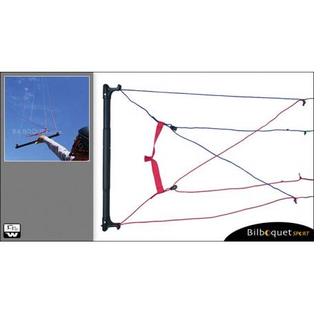 Barre de contrôle Cross-Over pour voile 4 lignes