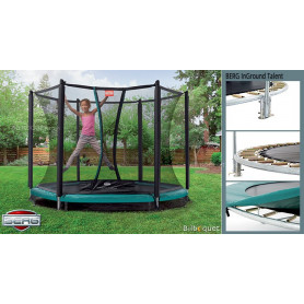 Trampoline BERG InGround Talent avec filet de protection Confort