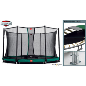 Trampoline BERG InGround Favorit avec filet de protection Confort