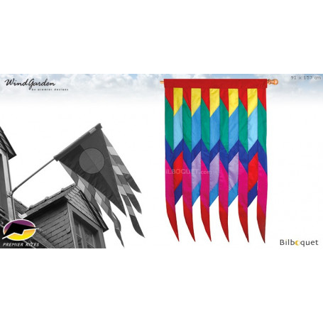 Drapeau Cellon 91x157cm - Progressive Banner Rainbow par David Ti