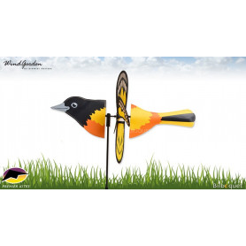 Oiseau Loriot 48cm - Petite éolienne décorative