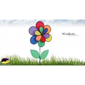 Éolienne décorative fleur double Ø48cm