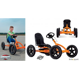 Kart à pédales Buddy Orange (3-8 ans)