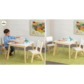 Ensemble table Moderne + 2 chaises - Mobilier pour chambre d'enfant