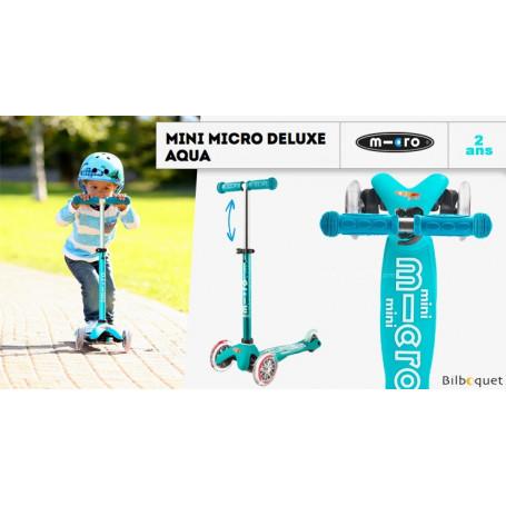 Mini Micro Deluxe Aqua - Trottinette 2-5 ans