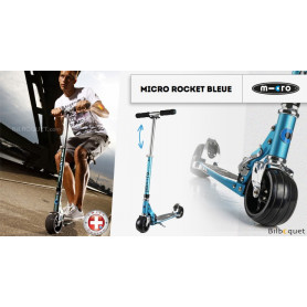 Trottinette Micro Rocket bleue - Adulte