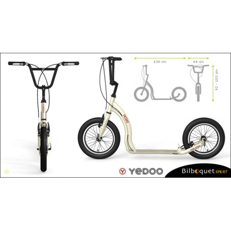 Trottinette Alu Friday - Cream - Yedoo ALLOY