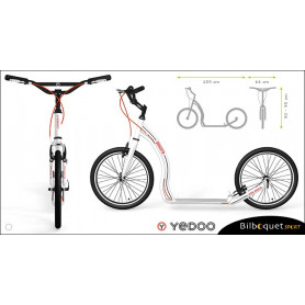 Trottinette Alu Dragstr - White - Yedoo ALLOY