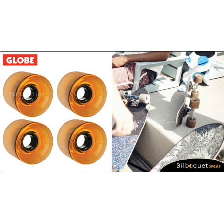 Globe BANTAM - Clear Amber - Ø62mm/83a - Set de 4 roues pour longboard