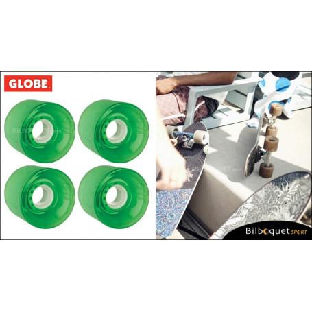 Globe BANTAM - Clear Kelly Green - Ø62mm/83a - Set de 4 roues pour longboard
