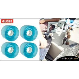 Globe BANTAM - Clear Light Blue - Ø62mm/83a - Set de 4 roues pour longboard