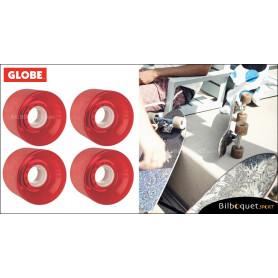 Globe BANTAM - Clear Red - Ø62mm/83a - Set de 4 roues pour longboard