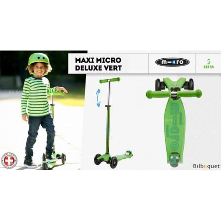 Maxi Micro Deluxe - Vert - Trottinette évolutive