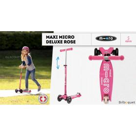 Maxi Micro Deluxe - Rose - Trottinette évolutive