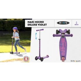 Maxi Micro Deluxe - Violet - Trottinette évolutive