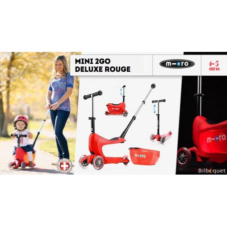 Mini2Go Deluxe Plus - porteur et trottinette - Rouge