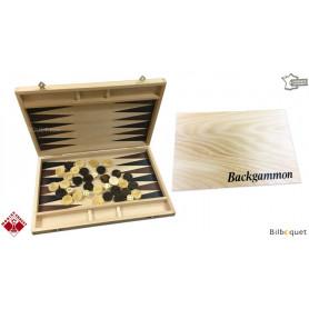 Jeu de Backgammon complet en bois de hêtre