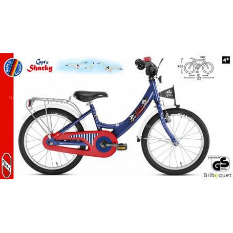 Vélo enfant Puky ZL 18 Alu (18 pouces) - Bleu Capt'n Sharky