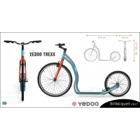 Trottinette Alu Trexx - Turquoise/Red - Yedoo ALLOY