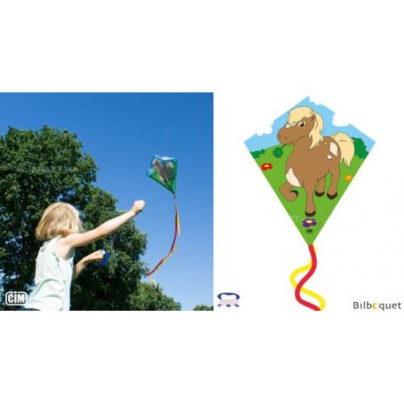 Monofil Eddy-S Poney 50x56cm - Cerf-volant enfant
