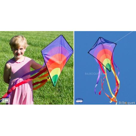 Monofil Eddy-S Arc-en-ciel 50x56cm - Cerf-volant enfant