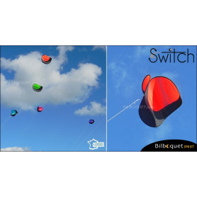 Switch - Cerf-volant monofil pilotable - ROUGE