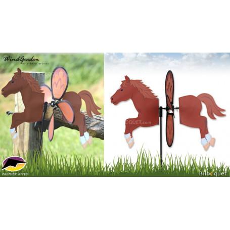 Cheval Chestnut 48cm - Petite éolienne de jardin