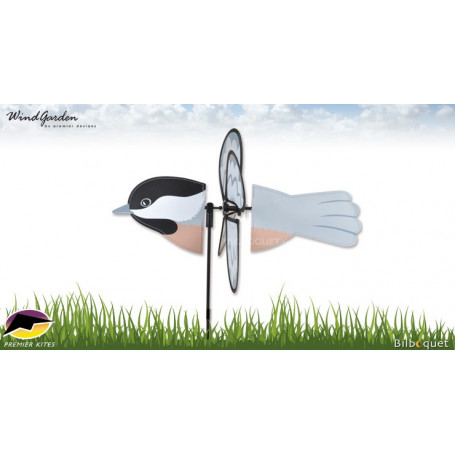 Oiseau Mésange 43cm - Petite éolienne de jardin