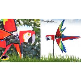 Oiseau Perroquet Ara Rouge 68cm - Éolienne décorative