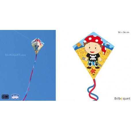 Eddy-S Pirate 50x56cm - Cerf-volant monofil enfant