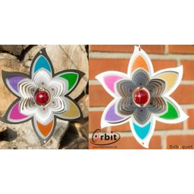 Fleur Arc-en-ciel 200 - Suspension décorative en inox