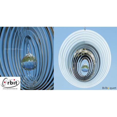 Oval Miroir Cristal 200 - Suspension décorative en inox