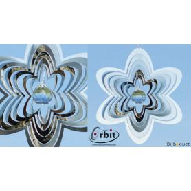 Fleur Miroir Cristal 200 - Suspension décorative en inox