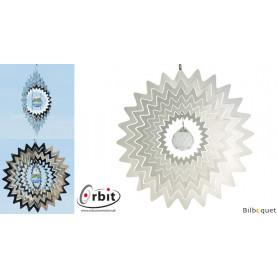 Étoile Miroir Cristal 200 - Suspension décorative en inox