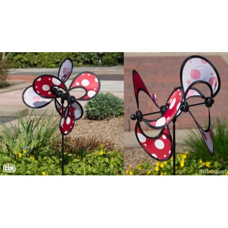 Little Flower Dots Double - Éolienne décorative