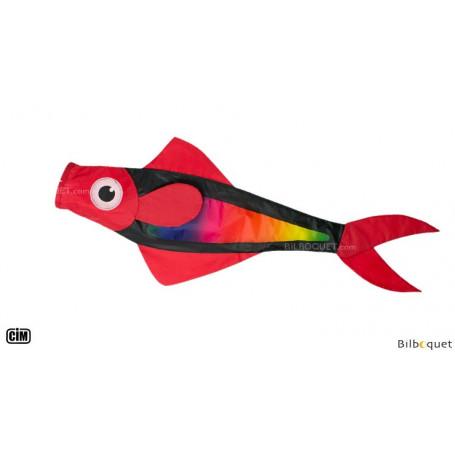 Manche à air poisson rouge rainbow 91cm