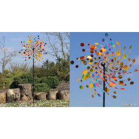 Kinetic Confetti 81cm - Eolienne décorative en métal