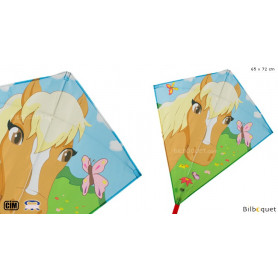 Eddy Poney 65x72cm - Cerf-volant monofil enfant