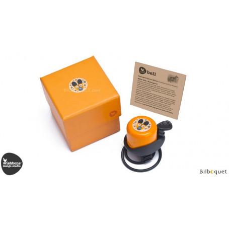 Sonnette de vélo Wishbone-WWF - Chien sauvage africain orange