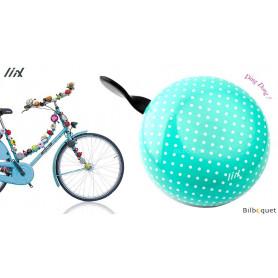 Sonnette de vélo Polka Dots Pastel Green - Liix Ding Dong Bell Ø80mm