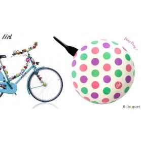 Sonnette de vélo Polka Big Dots Pastel Mix - Liix Ding Dong Bell Ø80mm